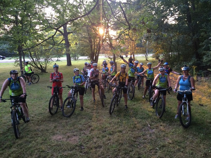 GirlBike group ride at the Rouge Park MTB Trailhead