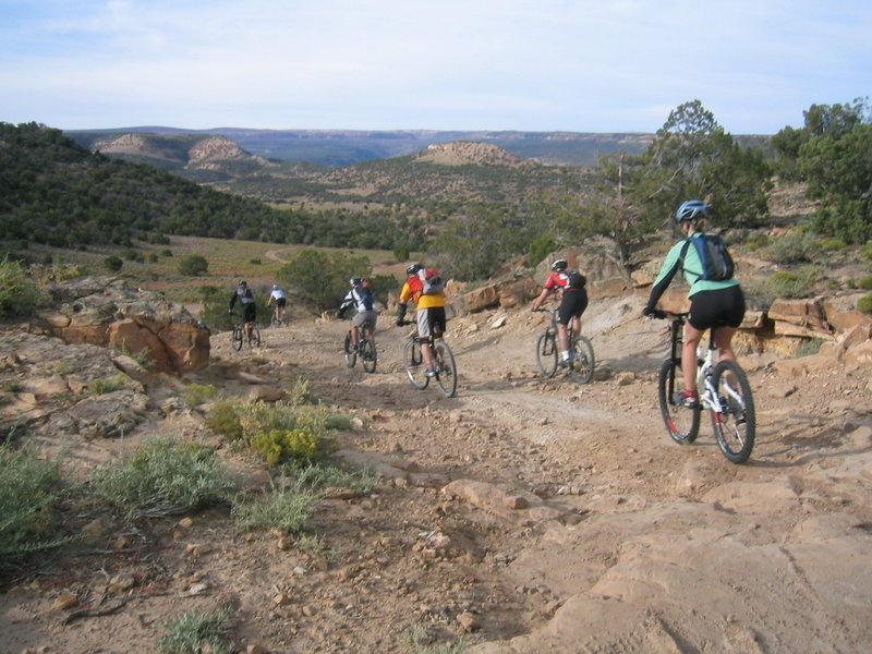 Dropping into Dry Creek.