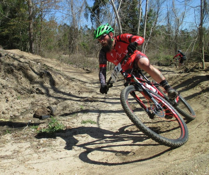 Hitting a berm at the CCORS Race 2015.