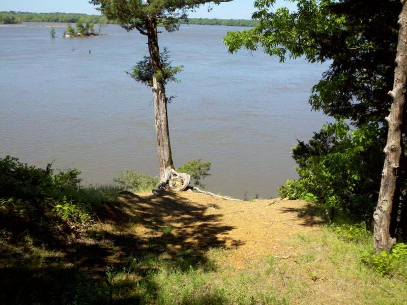 One of the nice views from the trail of the Arkansas River.