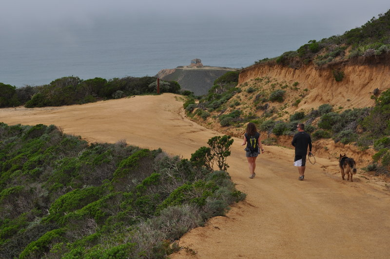 Start of steep section past junction with Pedro Mountain Road.