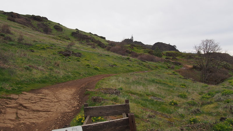 Start of the Jeep Trail.