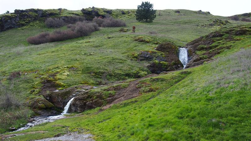 Double waterfall. Taken in March