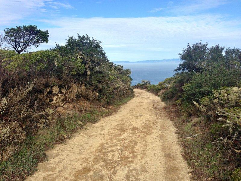 North Peak Access Road.