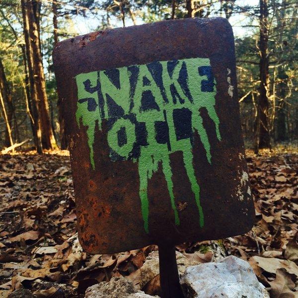 Trail sign for Snake Oil.