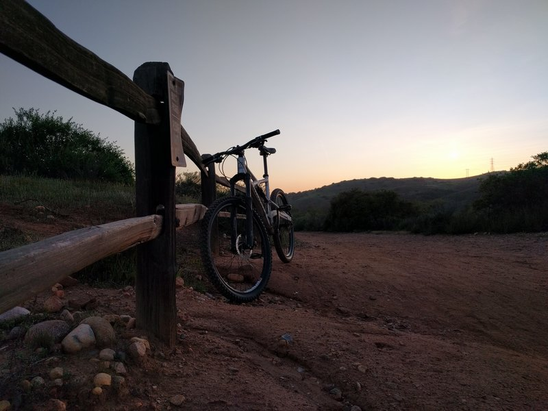 Beautiful sunset first time ride in the canyon.