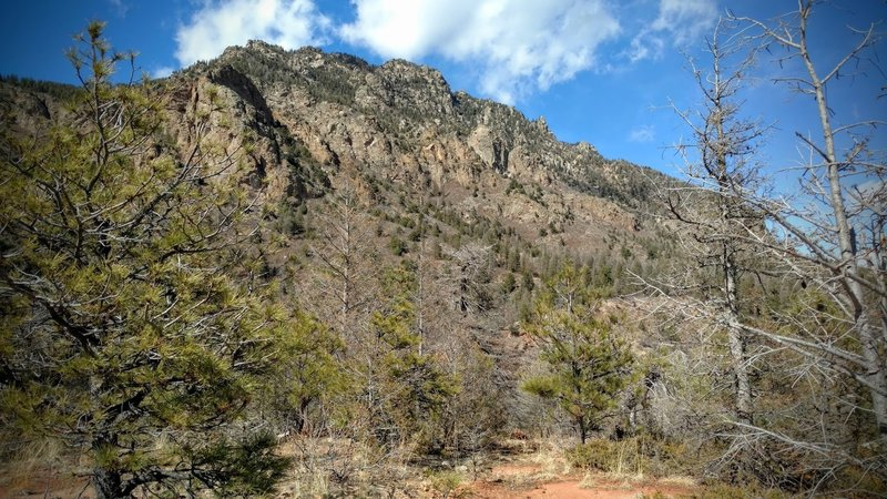 Cheyenne Mountain from the top of Talon trail.