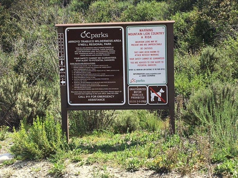 Entrance to the trail at Santa Margarita Parkway.