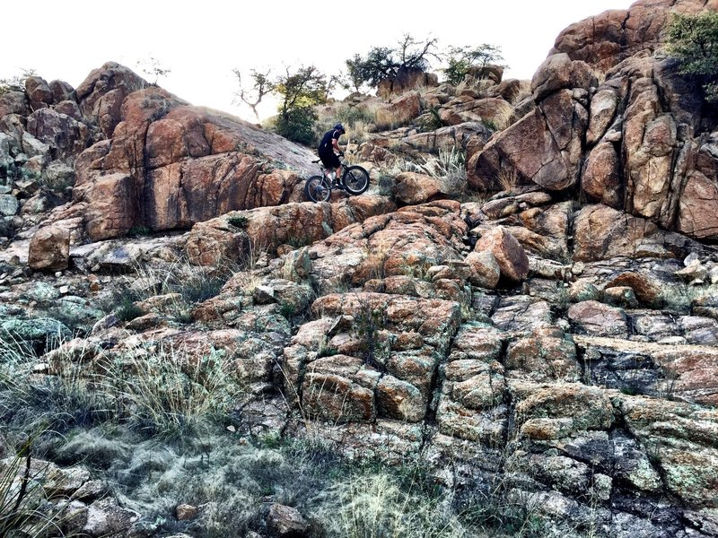 Ryan navigating the rocks.