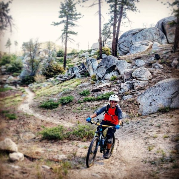 Hanna Flats Loop is a lot of fun and it's not flat! Rolling, flowy ride.