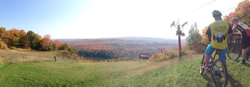 Fall view at top of hill / bottom of the ski jump.