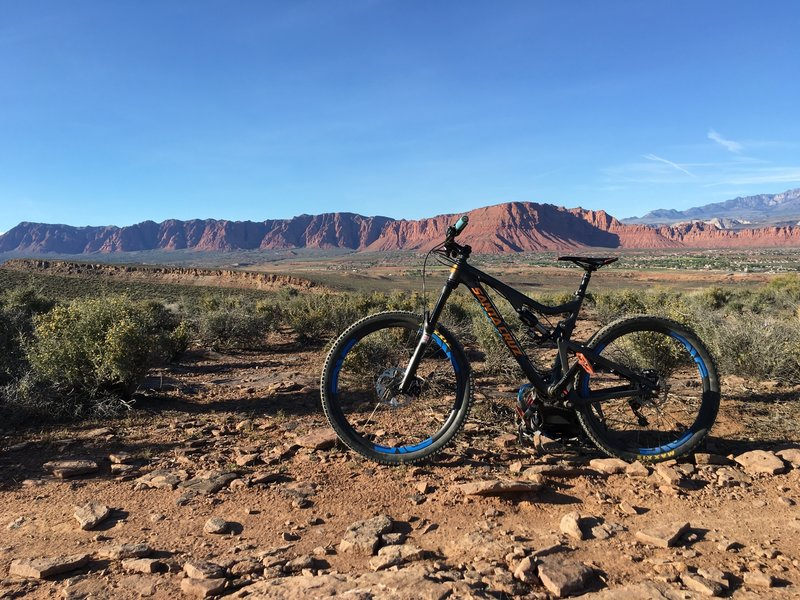 One of the amazing views riding the Barrel Roll Loop Trail.