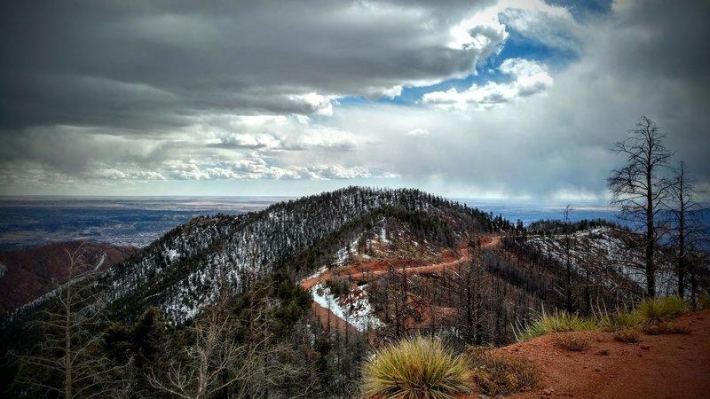 Overlook towards Waldo Canyon and the city.