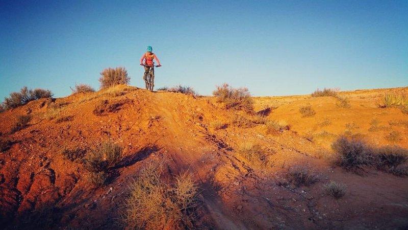 Fun sunset ride at Goosebumps.