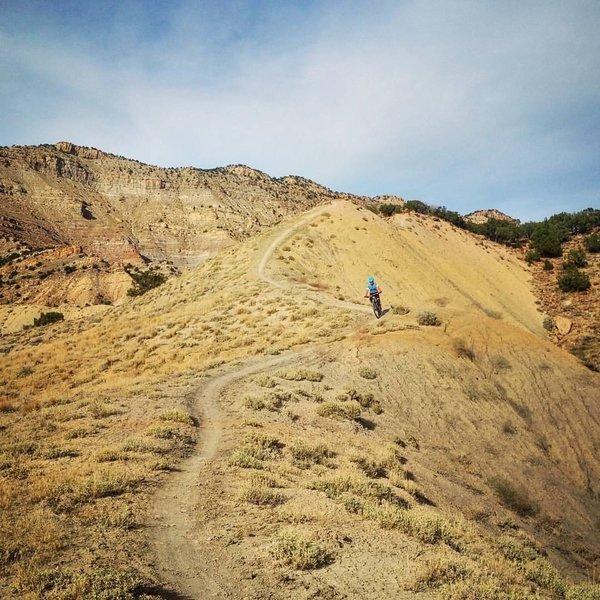 Going down Joe's Ridge.