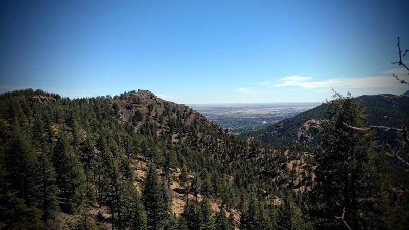 View east towards Colorado Springs.