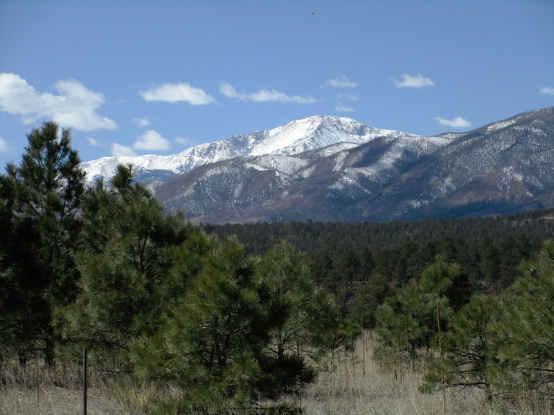 Out in the middle of the USAF Academy somewhere. Great views of Pikes Peak and the Rampart Range the whole way!