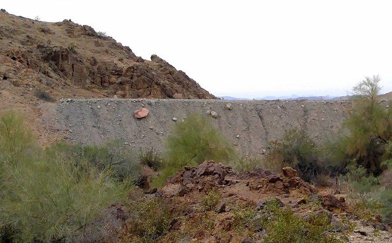 Earthen dam in Paradise Valley.