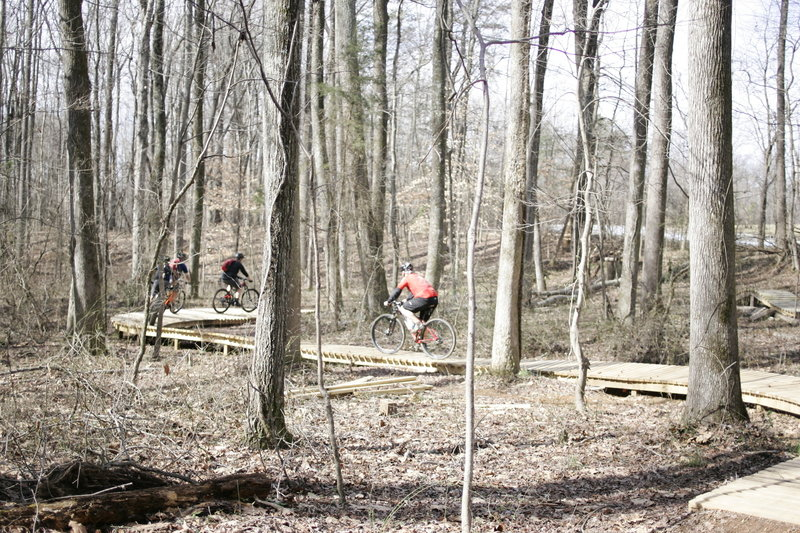 The Wooden Bridge made by the Boy Scouts of America.