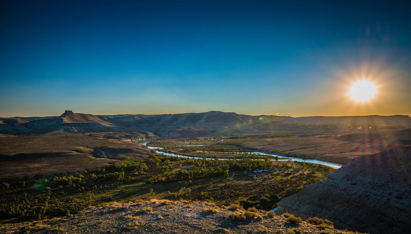 Overlooking the Green River.