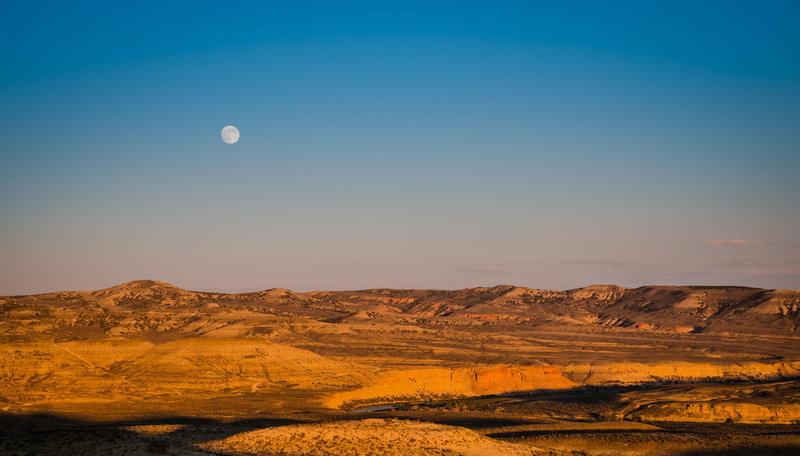 A high desert sunset near Green River.