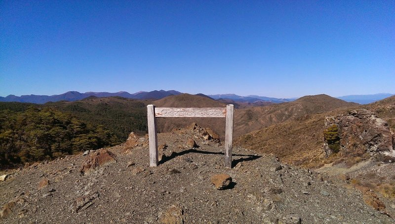 The actual saddle - most of the trail is through bush but the top section is exposed with wonderful views