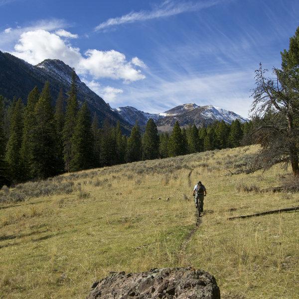 Climbing toward Yellow Peak on Rocky Creek Trail.