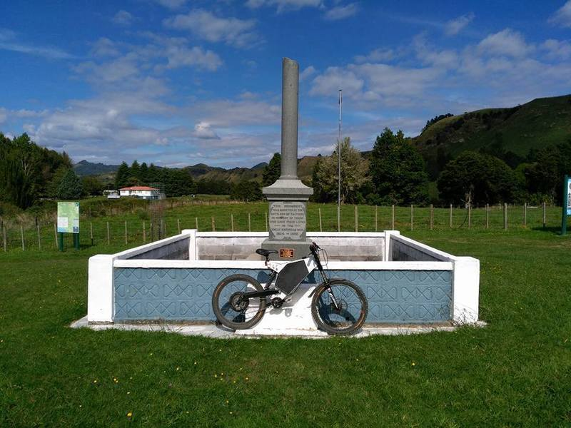 The Kaitieke First World War Memorial at the end of the trail.