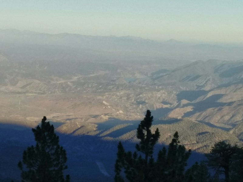 The view from Frazier Mountain down to Hungry Valley.