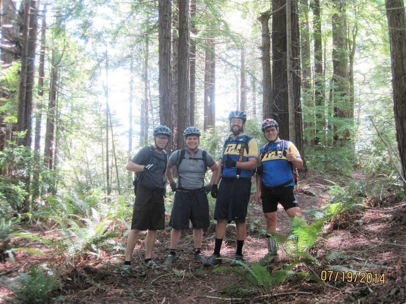 TROGS annual MTB Bike Trip: Ray, Curtis, Khris, Lenny.