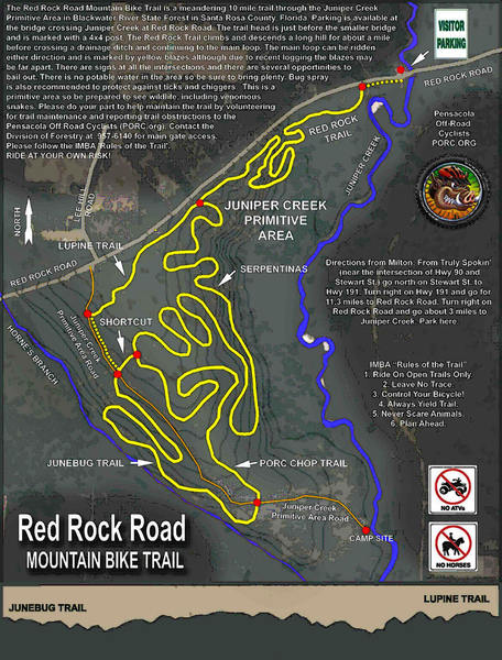 PORC trail map.