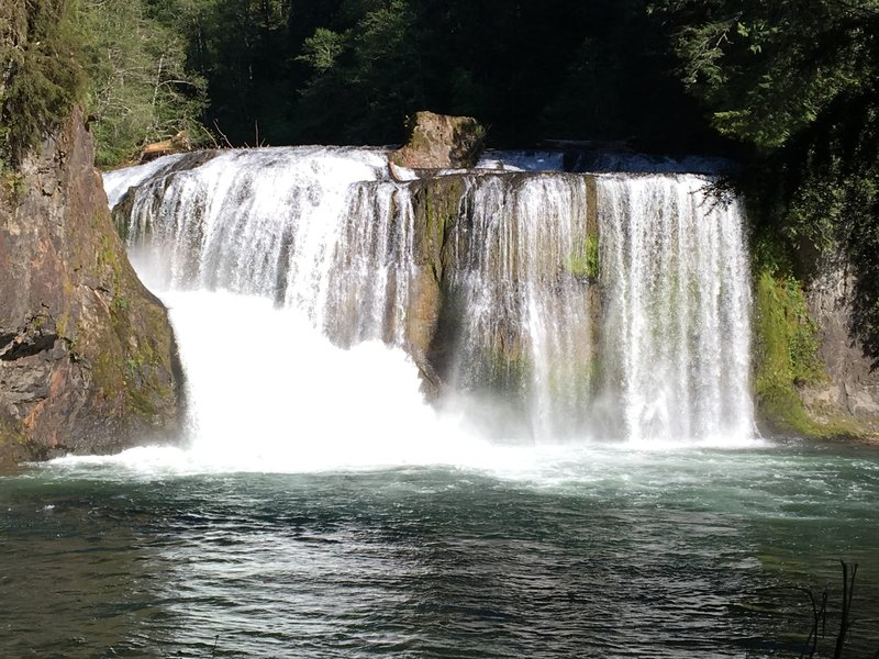 Upper Falls on the Lewis River Trail.