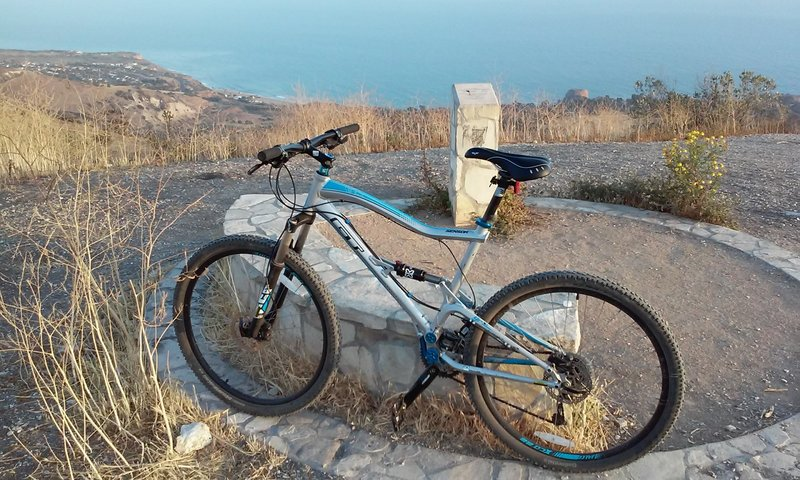Looking down at Abalone Cove, just before descending the singletrack adjacent to Burma Fire Rd.