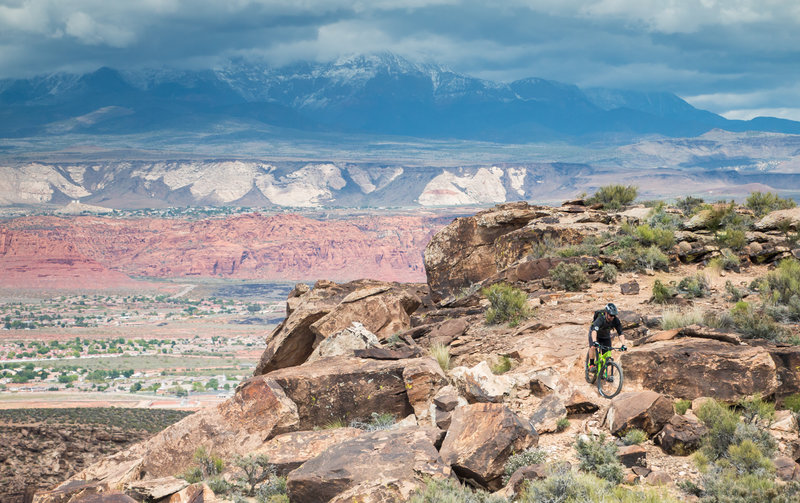 Overlooking Pine Mountain from the Sidewinder Trail in St. George.