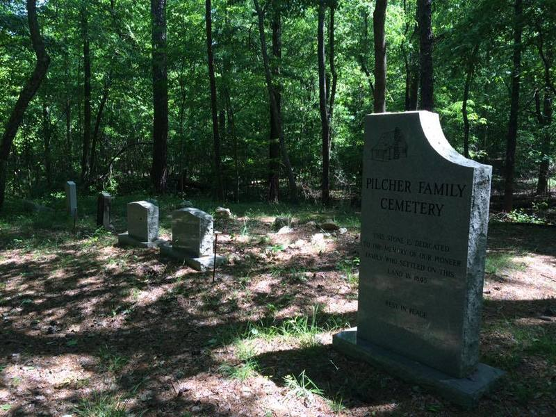 Pilcher Family cemetery on the John's Mountain Trail.