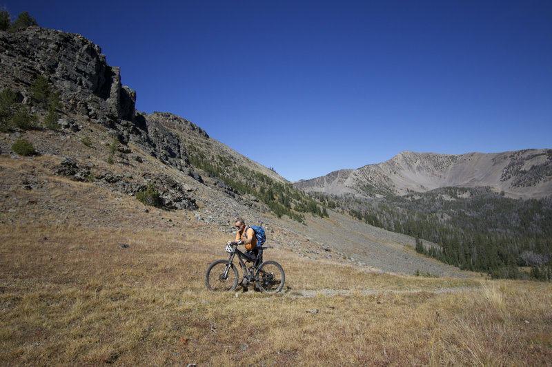 Hike-a-bike is a fact of life for Idaho riders.