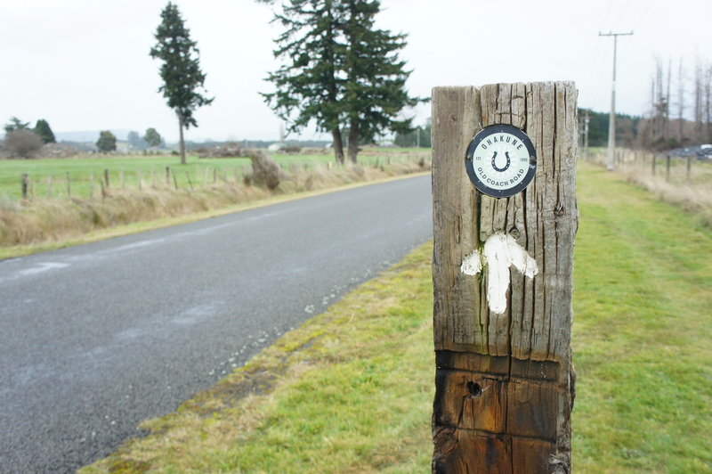 Signposts guide you between the Ohakune Old Coach Road and Ohakune.