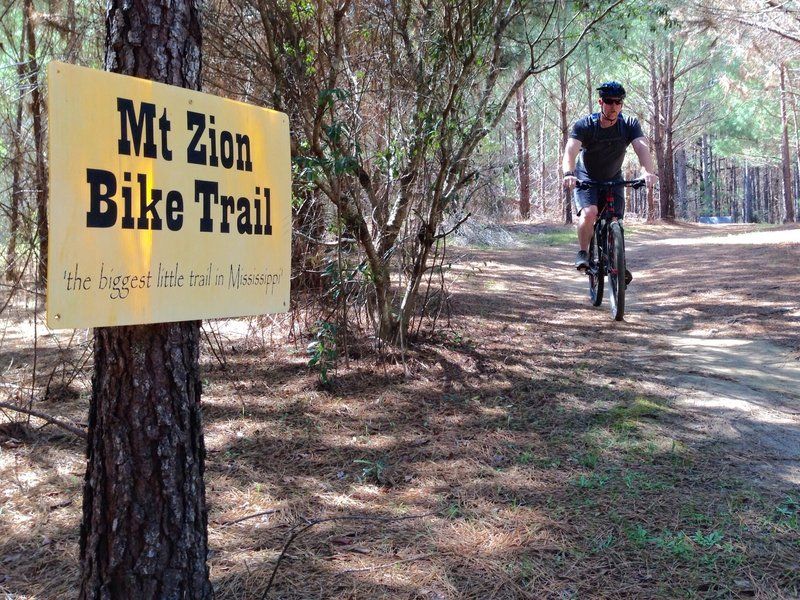 """Enjoying the """"Try The Trail Day""""  close to two hundred attended....several had never been on mountain bike."""