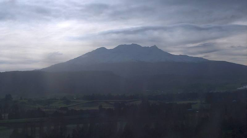 An early morning view of Mt Ruapehu.
