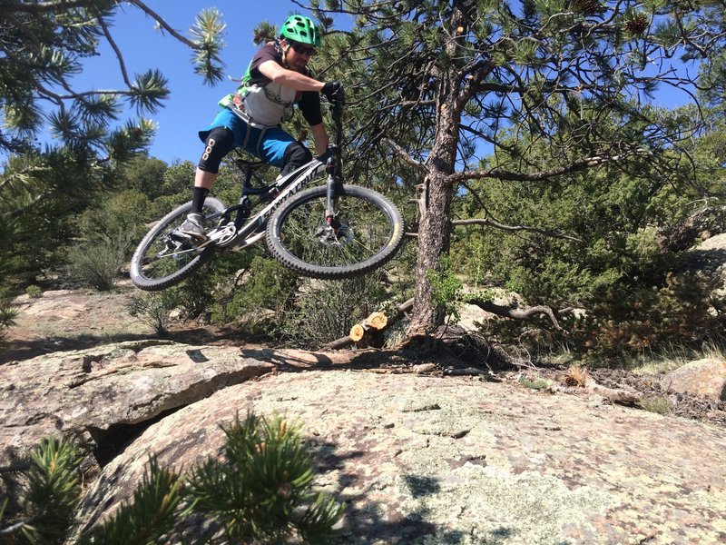When you find opportunities to get airborne and sideways on a CLIMB, you're on a good trail and killing it.