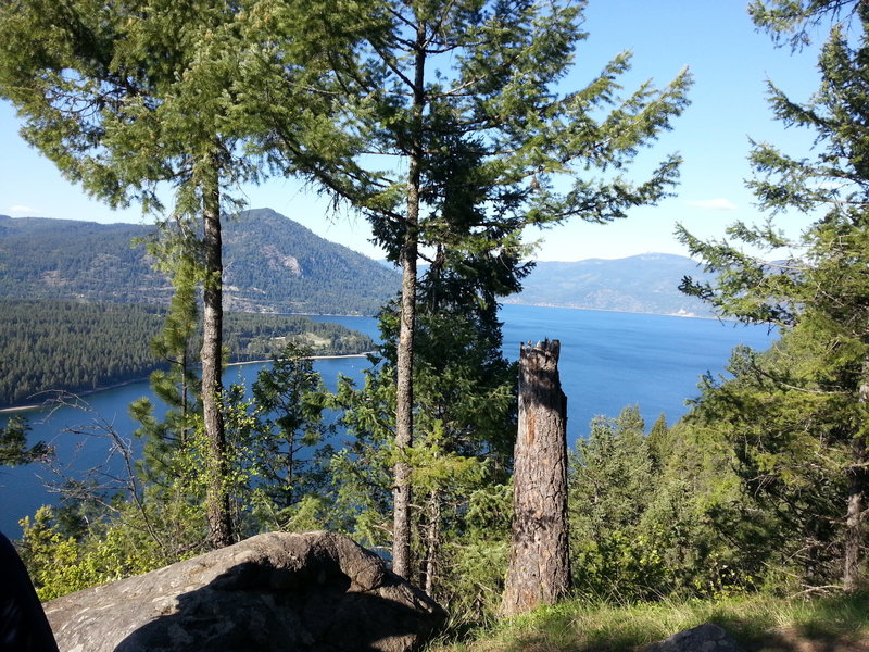 The Lake Viewpoint just off the lower Scout Trail.