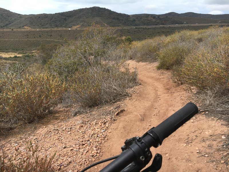 Descending the Stagecoach South Trail near the highway intersection of 73 and Laguna Canyon Road.