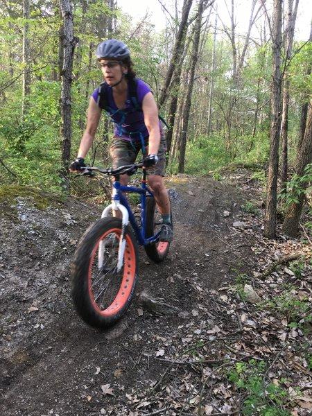Fat bike on fun, rocky rollers!