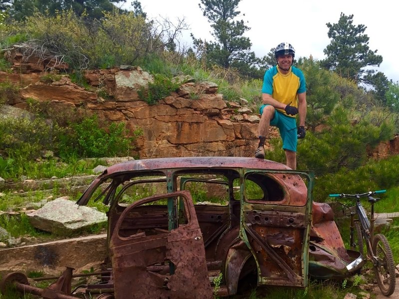 1940's car at the old quarry