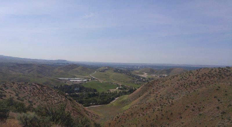 Overlooking Simplot Hill and a good view of downtown Boise.