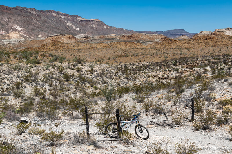 Looking back over the Fresno Divide Trail.