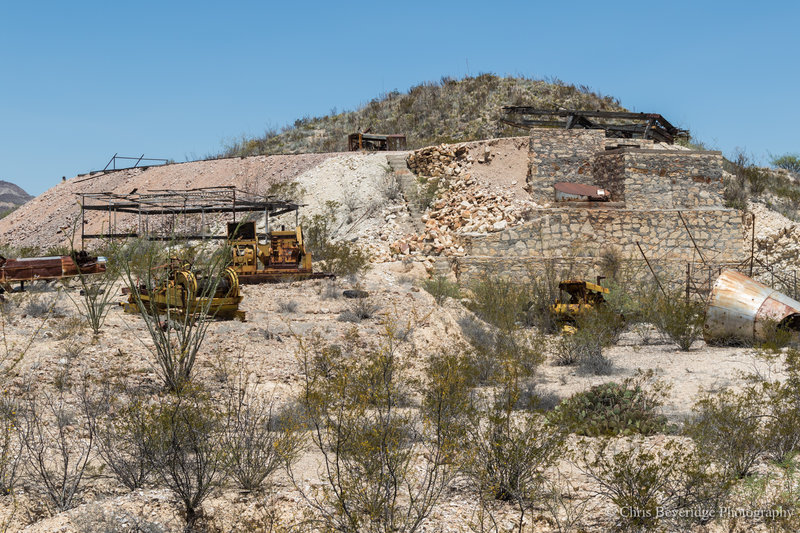 Abandoned Whit-Roy Cinnabar Mine just off the trail.