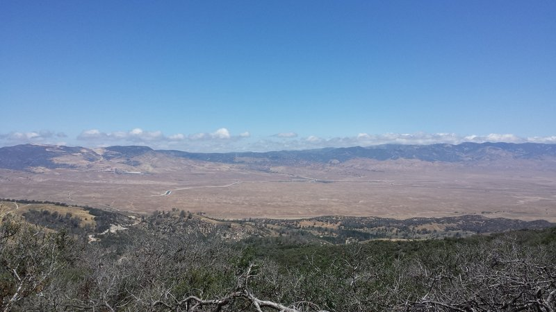 Mojave desert and the Tehachapi Range