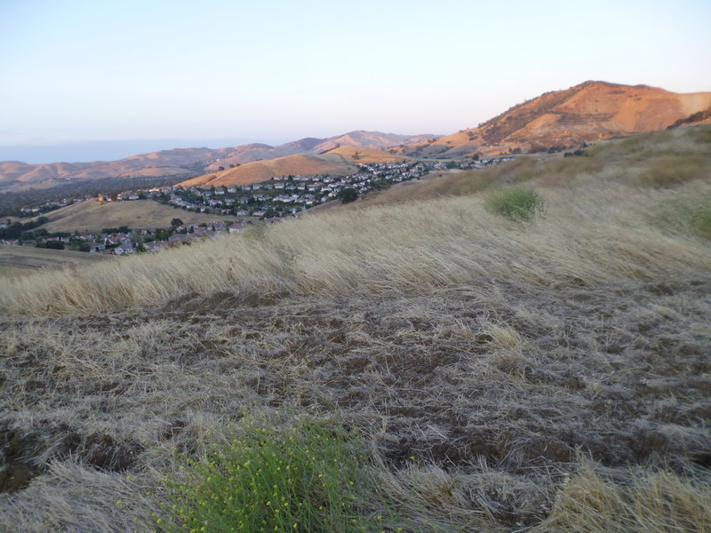 Open space meets urban sprawl on the Crystyl Ranch Trail.