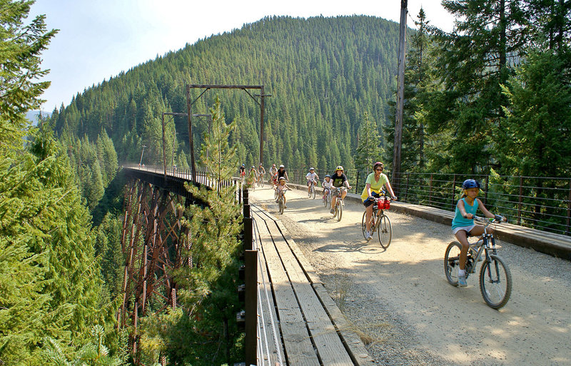 Trail of the Hiawatha Mountain Bike Trail, Wallace, Idaho
